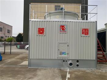 小心谨慎的施工菱电冷却塔