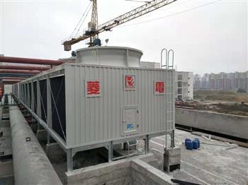 菱电冷却塔漂水的状况