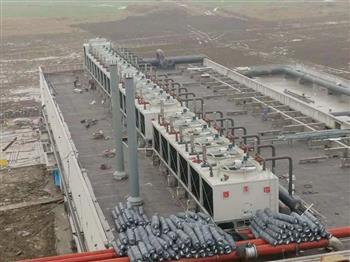 菱电冷却塔的工作地盘